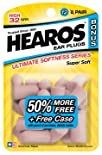 Hearos Ultimate Softness Ear Plugs Series 8 pair + 4 pair free and free case bonus pack