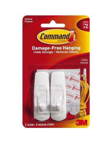 Command Medium Hooks White 2-HookB00006IBLM : image