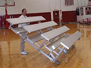 15 Tip N Roll Bleachers With Double Foot Planks 4 Row from Gared Sports