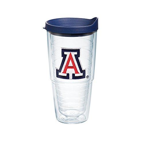 Tervis 1082392 Arizona University Emblem Individual Tumbler with Navy lid, 24 oz, Clear