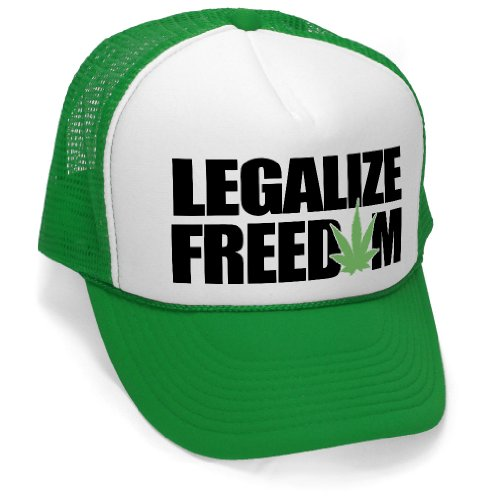 LEGALIZE-FREEDOM-weed-pot-marijuana-legalization-Mesh-Trucker-Cap-Hat-Green