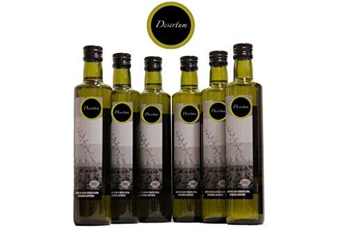 Huile d'olive vierge extra Desertum - Pack de 6 bouteilles de 500 ml