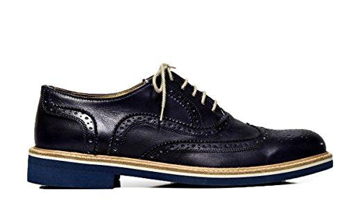 EXTON uomo scarpe eleganti stringate 9192 DELAVE' BLUE