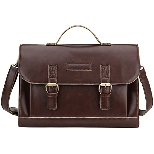Bagerly Mens Vintage Leather Messenger Cross Body Shoulder Bag Briefcase (Brown) (Timbuk2 Messenger Insert compare prices)