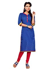 Blue Color With Resham & Lace Work Incredible Readymade Kurti