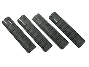Begadi Universal Railcover Set für Weaverschienen (22mm) - schwarz (4 Stück, je 15.5cm lang)