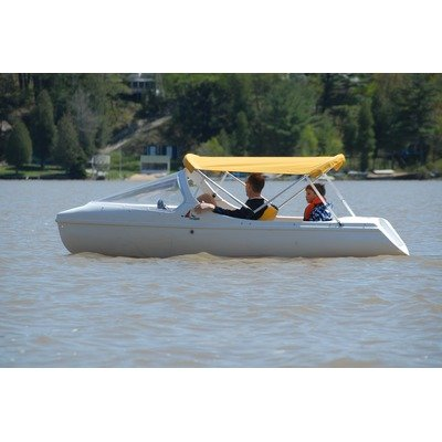 Image of Escapade Pedal Boat with Arch and High Windshield Seat Color: Turquoise (B00942PZ6Y)