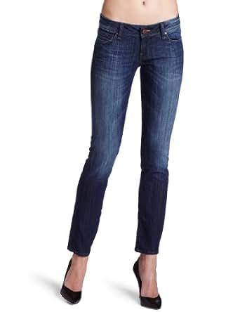 Mavi Women's Annie Rinse Brushed Nolita Low Rise Straight Leg Jean, Rinse Brushed Nolita, 25/32