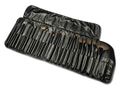 Beautify - 24 pcs Cosmetic/Make up Brush Set with Leather Case