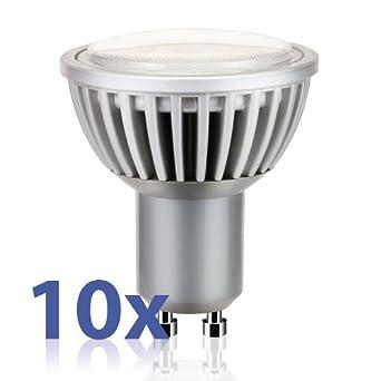 Gu10 DEL projecteur//Spot 10 W 120 ° 5500-6500k 230 V-Froid-Blanc 820 lm