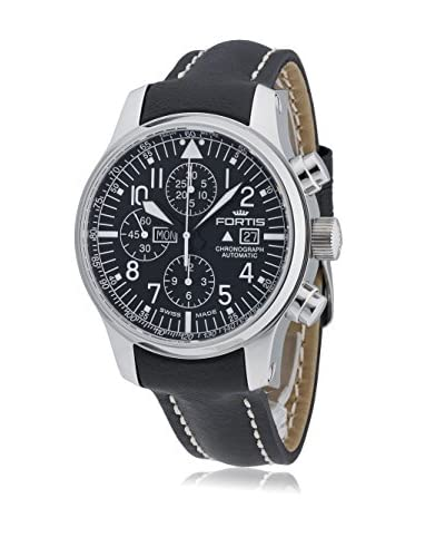 Fortis Mens 701.20.11 L.01 F-43 Flieger Chronograph Black/Black Stainless-Steel Watch