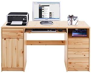 Schreibtisch computertisch 650501 kiefer massiv lackiert for Schreibtisch kiefer lackiert