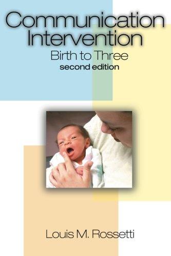 Communication Intervention: Birth to Three