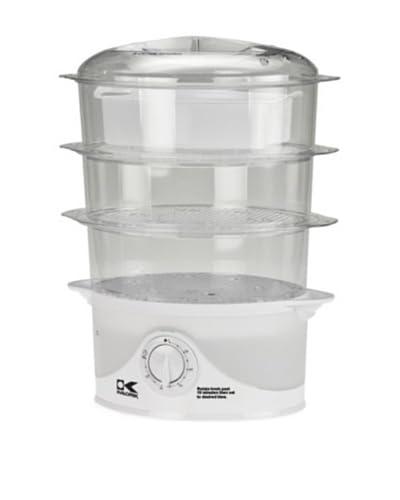 Kalorik 3-Tier Food Steamer, White