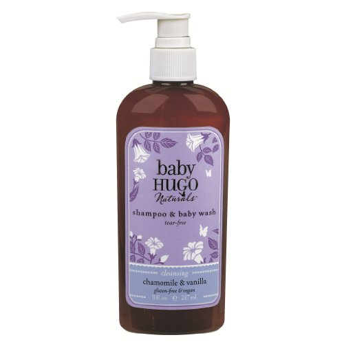 Hugo Naturals, Baby Shampoo Chamomile & Vanilla Shampoo and Baby Wash, 8-Ounce (Pack of 2)