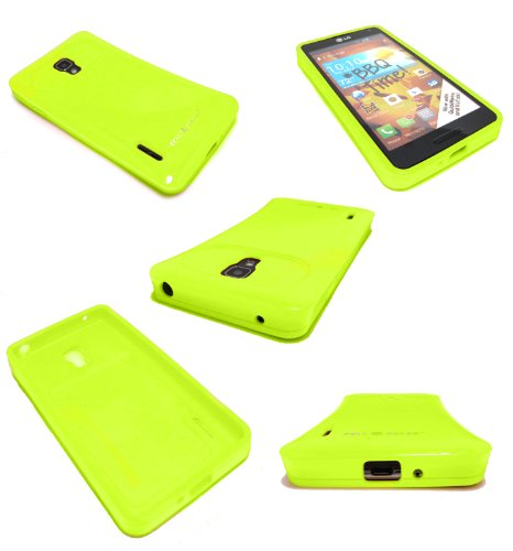 Cell-Nerds Gummy Cover For Lg Optimus F7 Us780 (By Boost Mobile / Us Cellular) (Lime)