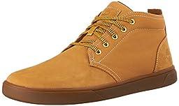 Timberland Men\'s Groveton Leather Fabric Chukka Boot, Wheat Nubuck, 9 M US
