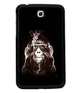 printtech Cool Monkey Glasses Smoke Back Case Cover for Samsung Galaxy Tab 3 7.0 :: Samsung Galaxy Tab 3 T211 P3200