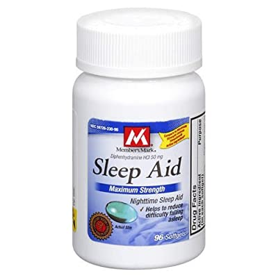 Member's Mark - Sleep Aid 50 mg, 96 Softgels (Compare to Unisom)