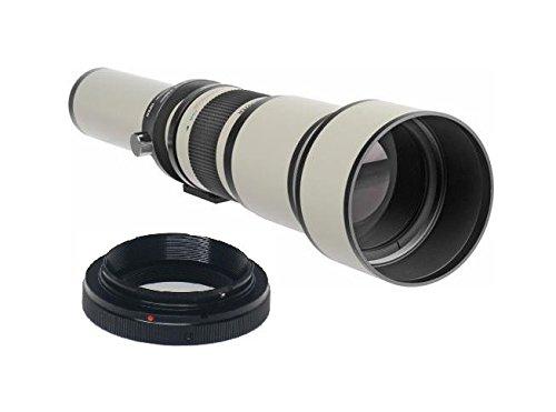 650-1300mm 1:8-16 Objektiv manueller Fokus Teleobjektiv (weiß) für Olympus PEN E-P1, E-P2, E-P3, E-P5, E-PL1, E-PL2, E-PL3, E-PL5, E-PL6, E-PL7, E-PM1, E-PM2, OM-D E-M1, E-M5, Mark II, E-M10 (MFT) Panasonic Lumix DMC, G1, G2, G3, G5, G6, G10, G6KK, GF1, GF2, GF3, GF3KK, GF3CK, GF5, GF5KK, GF5KR, GF5XR, GF6, GF6KK, GF7, GF7KK, GH1, GH1K, GH2, GH2KK, GH3, GH3K, GH4, GH4KBODY, GM1, GM1K, GM1KD, GM1KS, GM5, GM5KR, GX1, GX7, GX7KK, GX7K SLR-Systemkamera (Micro 4/3 Four Thirds Objektivbajonett)