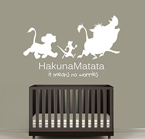 Wall Decal Vinyl Sticker Decals Art Decor Design Sign Quote Hakuna Matata Timon Pumba Kids Lion King Bedroom Dorm Nursery (R1239) front-579144