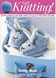 Debbie Bliss Knitting Pattern, Bunny Bootees, to Fit Age 3-6 Months Debbie Bliss Daily Mail
