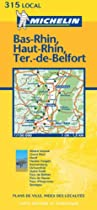 Bas-Rhin/Haut-Rhin/Ter.Belfort (Michelin Local Maps)