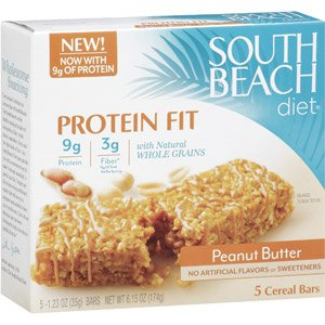 South Beach Diet High Protein Cereal Bars, Peanut Butter 5 Ea