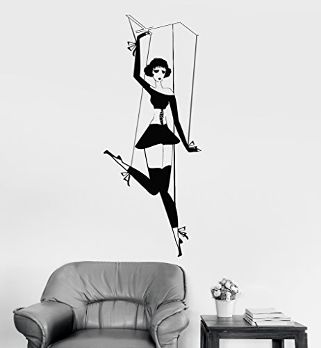 Vinyl-Wall-Decal-Puppet-Theatre-Childrens-Room-Decor-Stickers-Mural-ig3573