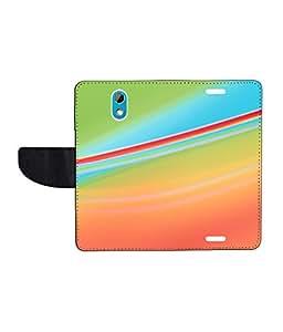 KolorEdge Printed Flip Cover For HTC Desire 526G Plus - Multicolor(50KeMLogo8243HTC526GPlus)