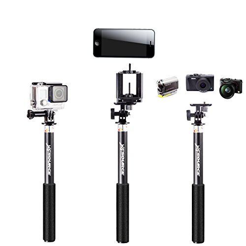 professionale selfie stick monopiede estensibile handheld monopod per iphone 6 5 5s 4s 4 samsung. Black Bedroom Furniture Sets. Home Design Ideas