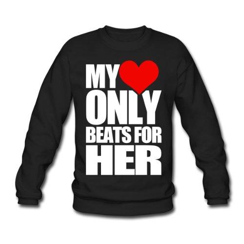Spreadshirt, only_beats_for_her, Men's Sweatshirt, black, XL