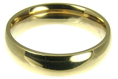 Ladies' Wedding Ring, 9 Carat Yellow Gold Ladies' Court Shape, 5mm Band Width