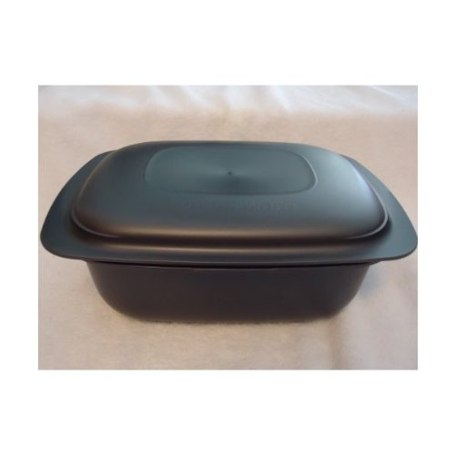 Tupperware Ultra Pro Oval Oven Safe 6 Qt /5.75 L Lasagna Casserole Microwave New Cosmos Black