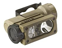 Streamlight 14102 Sidewinder Compact Tactical Flashlight Featuring C4 Leds, with Helmet Mount and CR123A Lithium Battery, Coyote