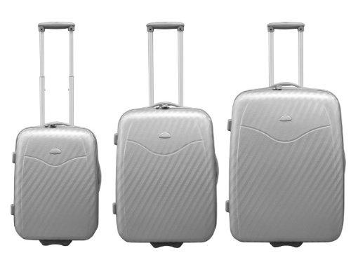 Hartschalen Kofferset 3tlg Silber
