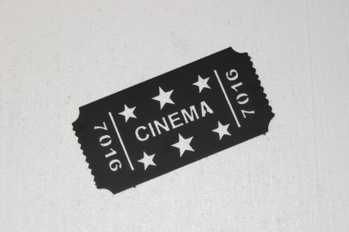 Cinema Movie Ticket with Stars Home Theater Decor Metal Wall Sign (Wall Ticket compare prices)