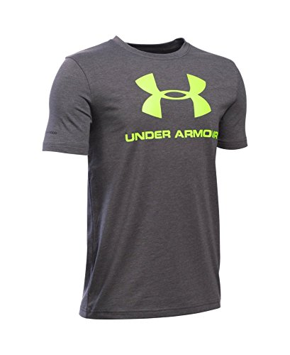 Under Armour Boys' Sportstyle Logo T-Shirt, Carbon Heather (090), Youth Small