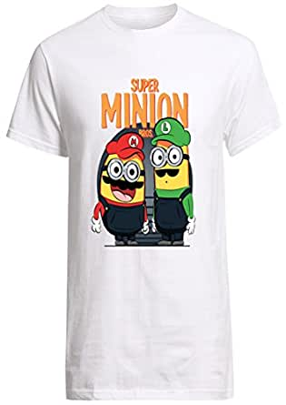 Minions Super Mario Bros minion parody shirt Custom Fruit Of The Loom T-shirt