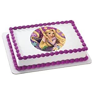 Tangled Birthday Cake on Amazon Com  Tangled Rapunzel Edible Image Cake Decoration Topper