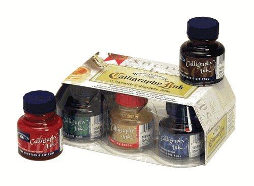 Winsor & NewtonTM Calligraphy Ink 6 Assorted Set