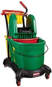 Rubbermaid Commercial FG777700 WaveBrake Down Press Mopping Trolley, 8.75 Gallon Capacity, 28.9