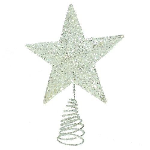 gisela-graham-christmas-silver-glitter-tree-top-star-topper