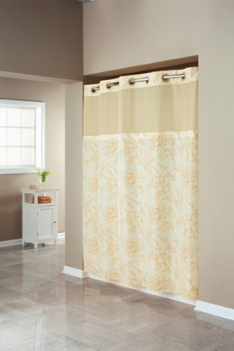 Hookless Floral Print Mystery Shower Curtain, Yellow