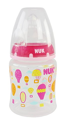 NUK 3 Piece Silicone Core Orthodontic Bottle, Slow Flow, 5 Ounce