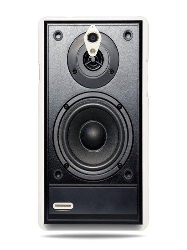 Grüv Premium Case 'Retro Vintage 80S 90S Dj Audio Speaker' Design For Huawei Ascend G700 (Best Quality Designer Print On White Hard Cover)