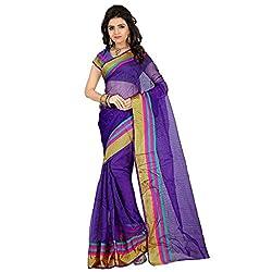 Dealseven Fashion New Purple Colure Tissue Silk Saree