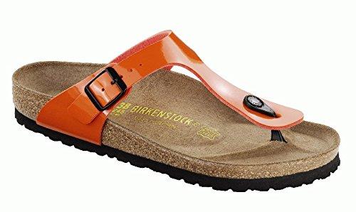 Birkenstock Women'S Gizeh Cork Footbed Thong Sandal Orange 39 M Eu front-792319