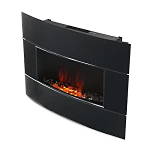 Bionair Electric Fireplace With Digital Thermostat Home Kitchen