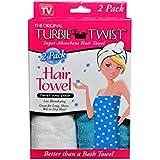 Turbie Twist Microfiber Hair Towel (2 Pack) Light Pink - Dark Pink